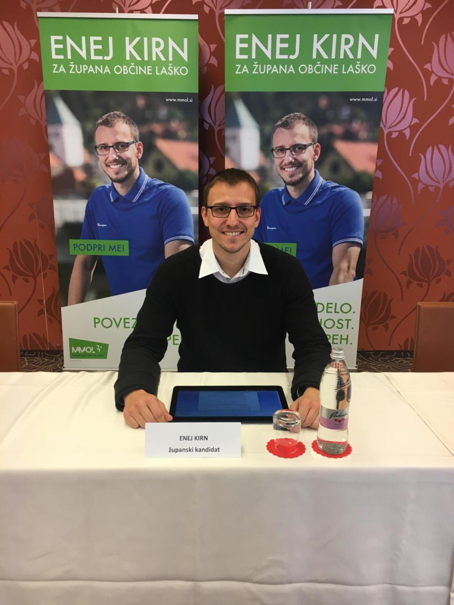 Enej Kirn / kandidat za župana občine Laško